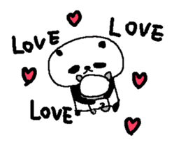 English Panda love stickers sticker #8701033