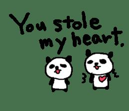 English Panda love stickers sticker #8701039