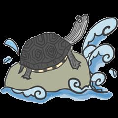 Turtles like to sleep