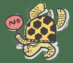 Turtles like to sleep sticker #8712016