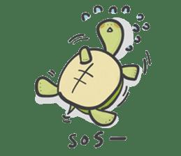 Turtles like to sleep sticker #8712018