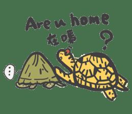 Turtles like to sleep sticker #8712025