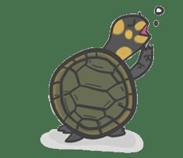 Turtles like to sleep sticker #8712028