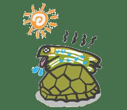Turtles like to sleep sticker #8712039