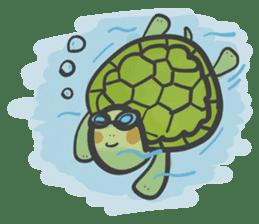 Turtles like to sleep sticker #8712040