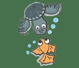 Turtles like to sleep sticker #8712042