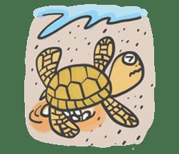 Turtles like to sleep sticker #8712044