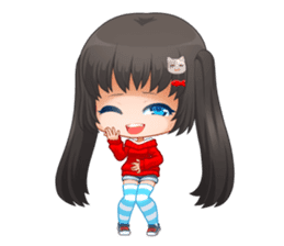 Nyao Nyanko sticker #8719341