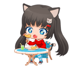 Nyao Nyanko sticker #8719342