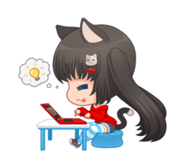 Nyao Nyanko sticker #8719343