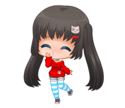 Nyao Nyanko sticker #8719366