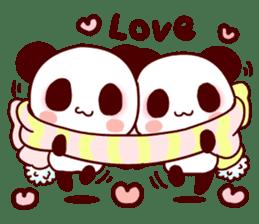 Lover is full of panda! sticker #8721410