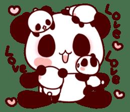 Lover is full of panda! sticker #8721419