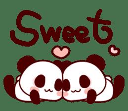 Lover is full of panda! sticker #8721424