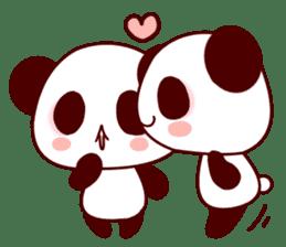 Lover is full of panda! sticker #8721430