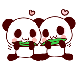 Lover is full of panda! sticker #8721446
