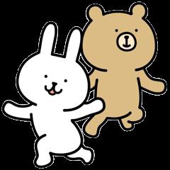 Rabbit and bear sticker3