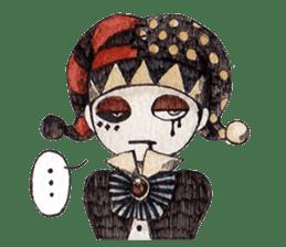 Three clowns sticker #8725050