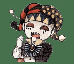 Three clowns sticker #8725055