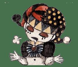 Three clowns sticker #8725057