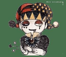Three clowns sticker #8725058