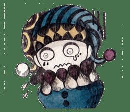 Three clowns sticker #8725062