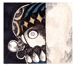 Three clowns sticker #8725063