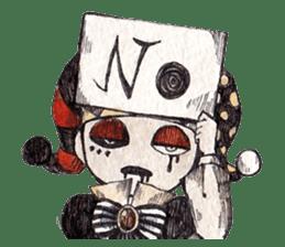 Three clowns sticker #8725085