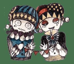 Three clowns sticker #8725088