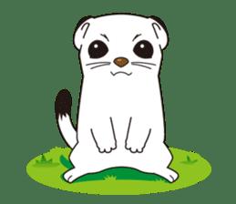 Fluffy ermine sticker #8727211