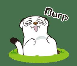 Fluffy ermine sticker #8727225