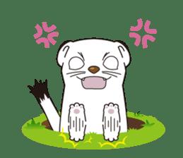 Fluffy ermine sticker #8727241