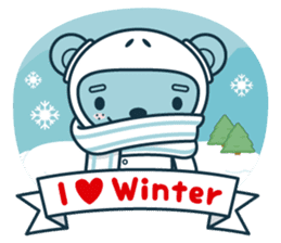 Christmas and Winter with Jokukuma sticker #8731952