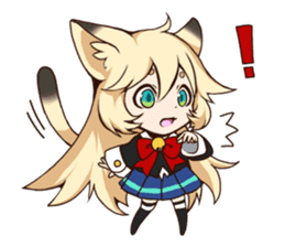 kawaii cat girl sticker(english version) sticker #8744174