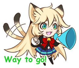 kawaii cat girl sticker(english version) sticker #8744176
