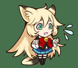 kawaii cat girl sticker(english version) sticker #8744177