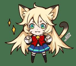 kawaii cat girl sticker(english version) sticker #8744178