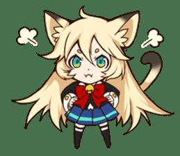 kawaii cat girl sticker(english version) sticker #8744180