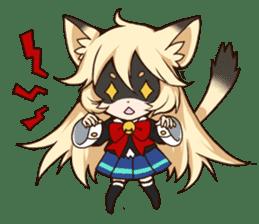 kawaii cat girl sticker(english version) sticker #8744181
