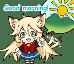 kawaii cat girl sticker(english version) sticker #8744182