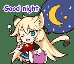 kawaii cat girl sticker(english version) sticker #8744183