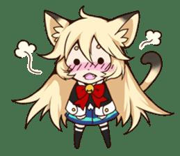 kawaii cat girl sticker(english version) sticker #8744185