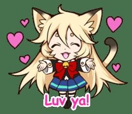 kawaii cat girl sticker(english version) sticker #8744186