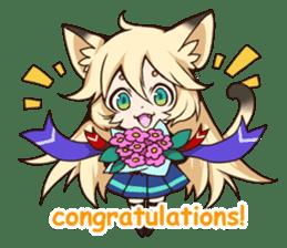 kawaii cat girl sticker(english version) sticker #8744187