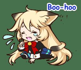 kawaii cat girl sticker(english version) sticker #8744192