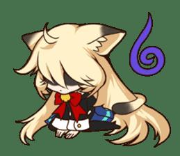 kawaii cat girl sticker(english version) sticker #8744193