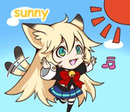 kawaii cat girl sticker(english version) sticker #8744196