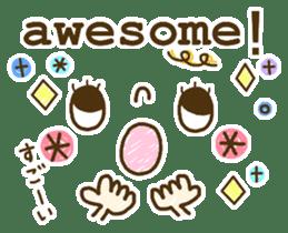 Cute emoticons. English Hen 2 sticker #8745264