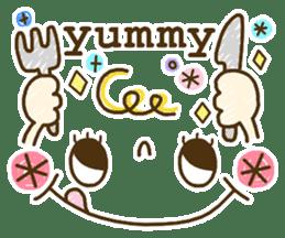 Cute emoticons. English Hen 2 sticker #8745269