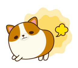 Plump Corgi Puipui sticker #8748185